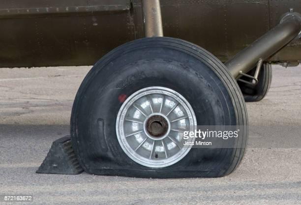 Aircraft flat tire