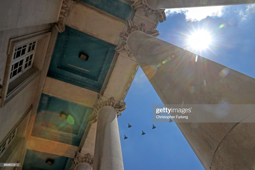 GBR: Flypast Rehearsal For Air Force Centenary Takes Place At RAF Cranwell
