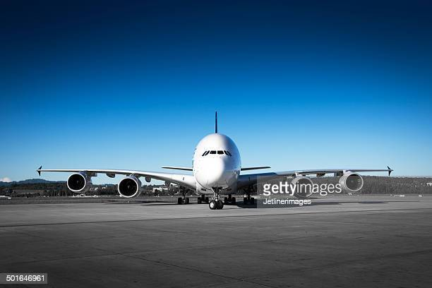 aircraft front view - fuselage stock photos and pictures