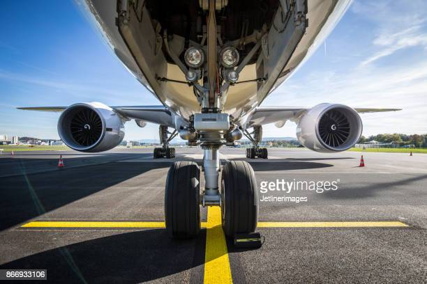 aircraft front view - fuselage stock pictures, royalty-free photos & images