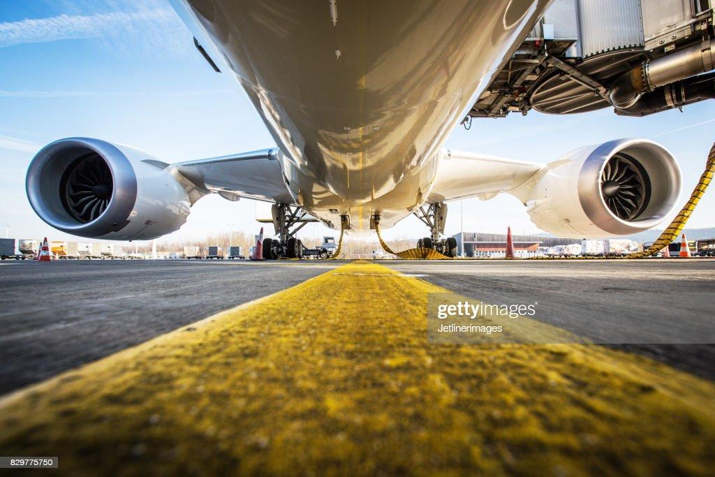 Aircraft fuselage : Stock Photo