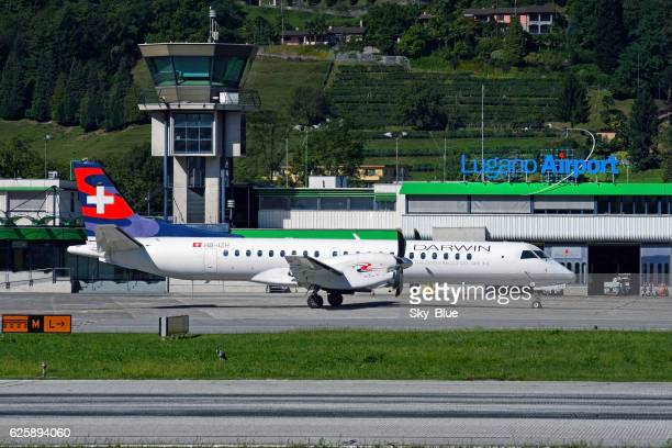 Aircraft in Lugano Airport