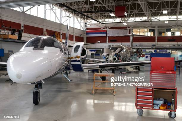 Aircraft in the hangar