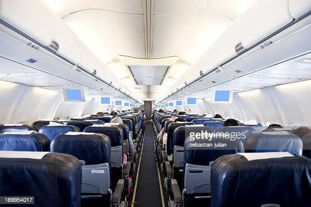aircraft inside - vehicle interior stock pictures, royalty-free photos & images