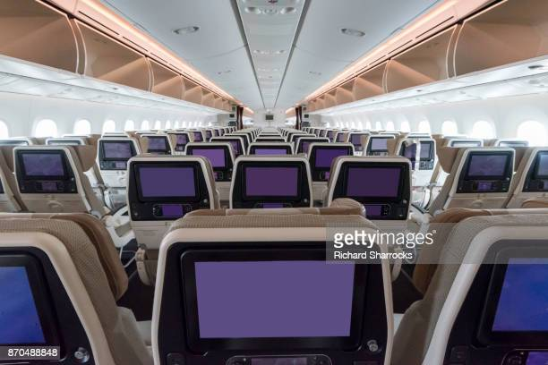 aircraft interior - vehicle interior stock pictures, royalty-free photos & images