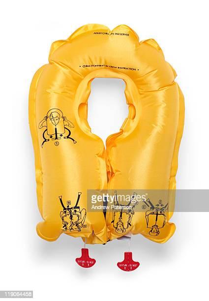aircraft life vest - life jacket photos fotografías e imágenes de stock