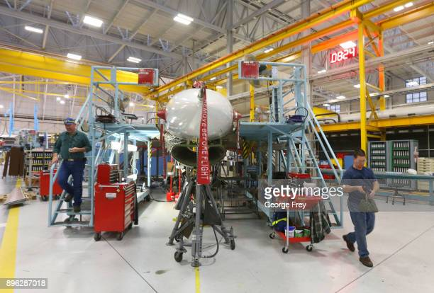 Aircraft mechanics work on an F16 Falcon on December 20 2017 at Hill Air Force base in Ogden Utah Hill Air Force Base has one of the largest repair...