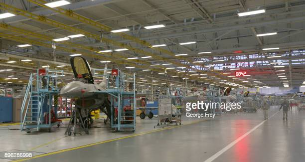 Aircraft mechanics work on F16 Falcons on December 20 2017 at Hill Air Force base in Ogden Utah Hill Air Force Base has one of the largest repair...