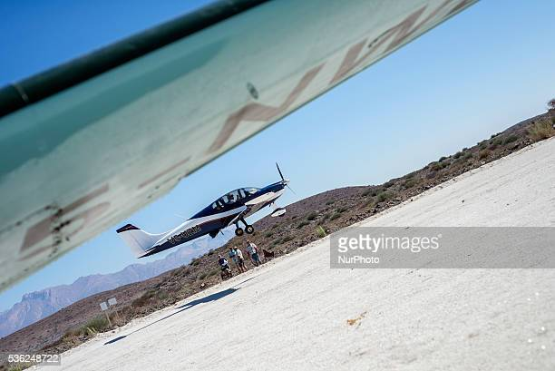 Aircraft movement during Flyin competitions on Saturday May 28 in Uis Namibia Sixteen aircraft took part in the competitions over two days Around 300...