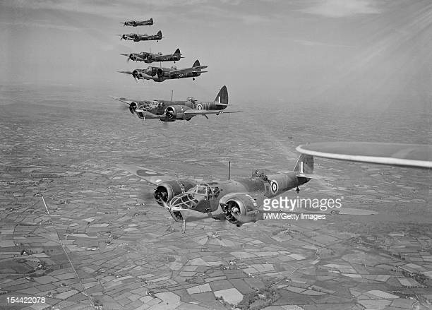 Aircraft Of The Royal Air Force 19391945 Bristol Type Type 149 Blenheim Iv Six Blenheim Mark IVFs of No 254 Squadron RAF flying in formation over...