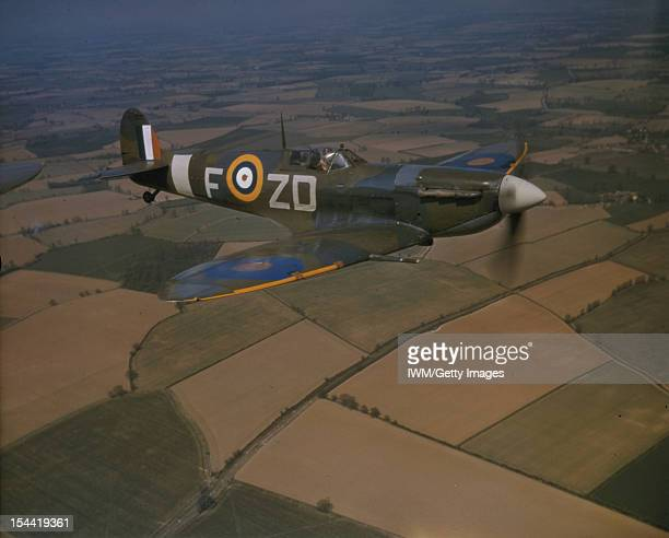 Aircraft Of The Royal Air Force 19391945 Supermarine Spitfire Spitfire Mark VB AD233 'ZDF' being flown by the Commanding Officer of No222 Squadron...