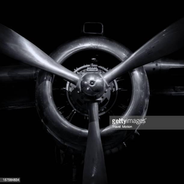 Motor de avión con hélices