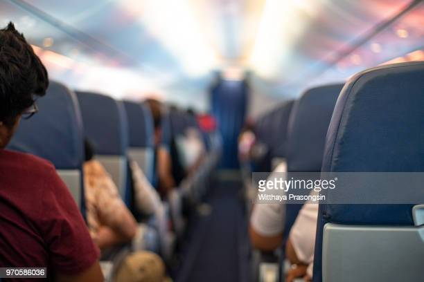 aircraft seats - vehicle interior stock pictures, royalty-free photos & images