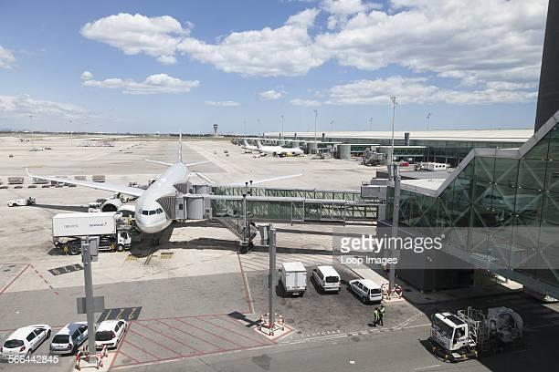 Aircraft stand at Barcelona Airport