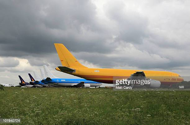 Aircraft that has had wait at Air Salvage International at Kemble airfield to be dismantled on June 9, 2010 in Kemble, England. The aircraft is one...