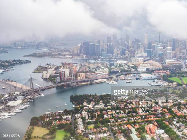 Aircraft view of sydney cityscape,Australia