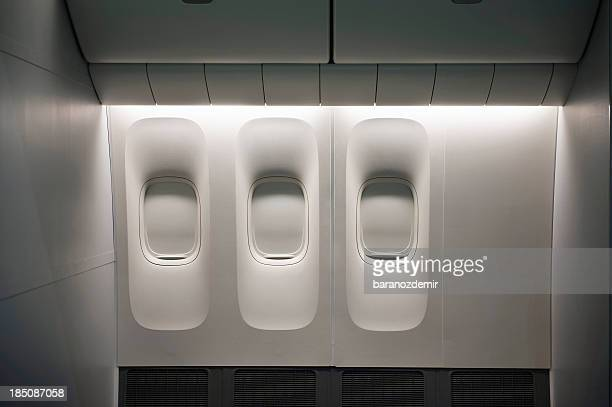 aircraft window - vehicle interior stock pictures, royalty-free photos & images