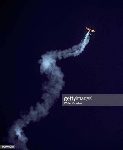 Aircraft with smoke trail
