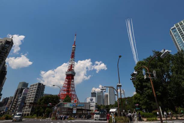 JPN: Blue Impulse Aerobatics Team Pays Tribute To Covid-19 Frontline Workers In Tokyo