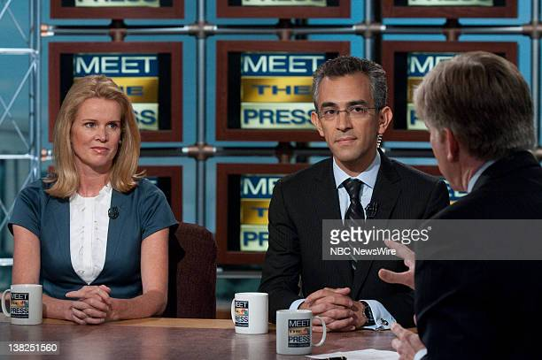 Katty Kay Washington Correspondent BBC World News America left and Richard Wolffe author Renegade The Making of a President appear on Meet the Press...