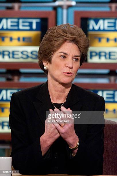 Kathleen Kennedy Townsend niece of Sen Ted Kennedy appears on Meet the Press with moderator David Gregory in Washington DC Sunday August 30 2009