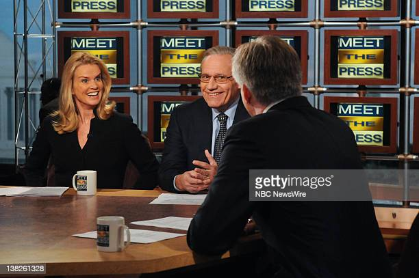 Katty Kay Washington Correspondent BBC World News America left Bob Woodward Assisting Managing Editor The Washington Post center and moderator David...