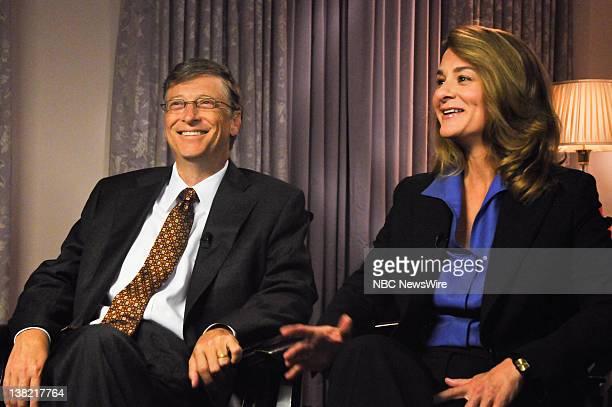 Bill Gates left and Melinda Gates right appear on Meet the Press in Washington DC Sunday November 29 2009