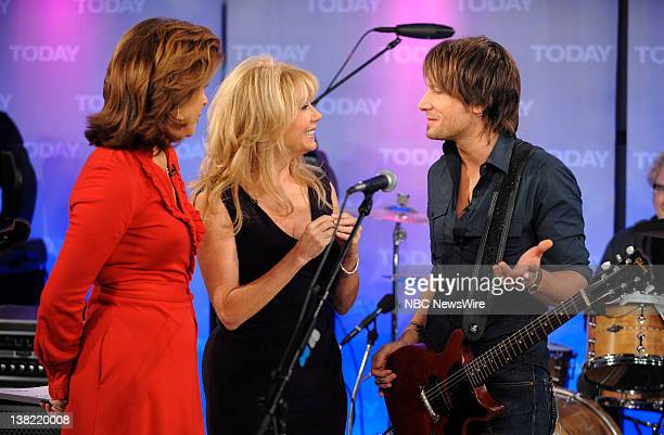 Hoda Kotb Kathie Lee Gifford and Keith Urban appear on NBC News' Today show