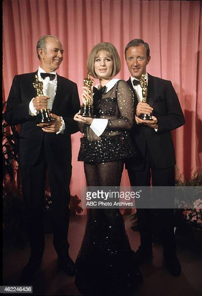 Airdate: April 14, 1969. JACK ALBERTSON , WINNER BEST SUPPORTING ACTOR FOR 'THE SUBJECT WAS ROSES', BARBRA STREISAND, WINNER BEST ACTRESS FOR 'FUNNY...
