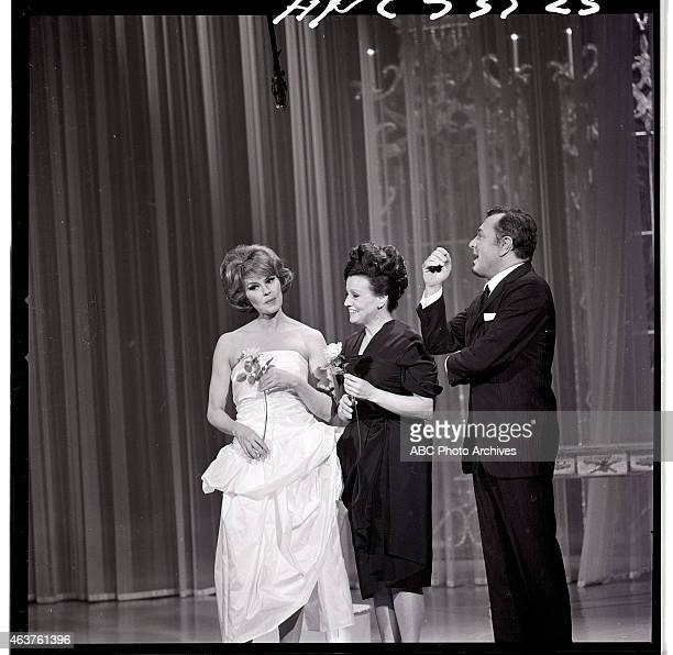 Airdate: January 30, 1965. L-R: HOST CYD CHARISSE;KAY STARR;TONY MARTIN