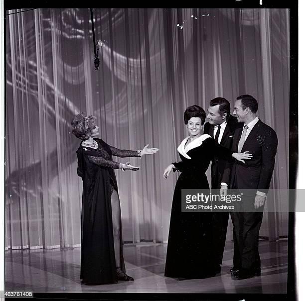 Airdate: January 30, 1965. L-R: HOST CYD CHARISSE;KAY STARR;TONY MARTIN;JACK CARTER