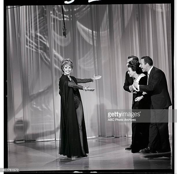 Airdate: January 30, 1965. L-R: HOST CYD CHARISSE;TONY MARTIN;KAY STARR;JACK CARTER