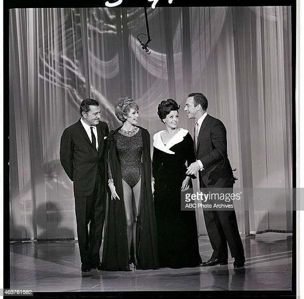 Airdate: January 30, 1965. L-R: TONY MARTIN;HOST CYD CHARISSE;KAY STARR;JACK CARTER