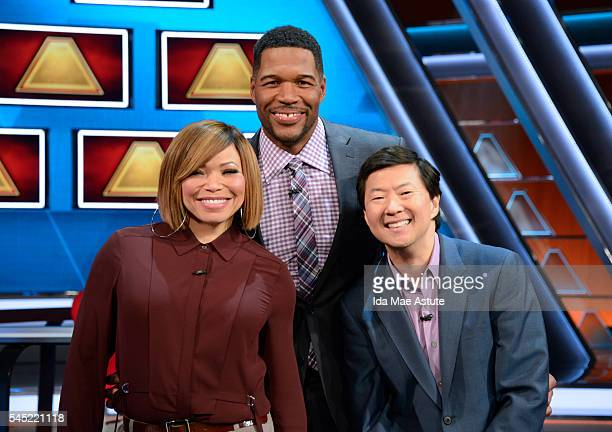 Airdate: July 10, 2016 - Michael Strahan hosts a new version of the classic game show, THE $100,000 PYRAMID, airing SUNDAYS on the Walt Disney...