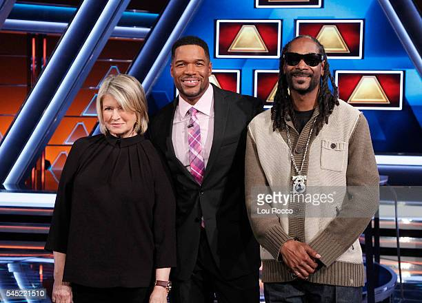 July 10 2016 Michael Strahan hosts a new version of the classic game show THE $100000 PYRAMID airing SUNDAYS on the Walt Disney Television via Getty...