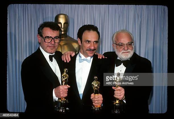 March 25 1985 MILOS FORMAN WINNER BEST DIRECTOR F MURRAY ABRAHAM WINNER BEST ACTOR AND PRODUCER SAUL ZAENTZ WINNER BEST PICTURE ALL FOR 'AMADEUS'
