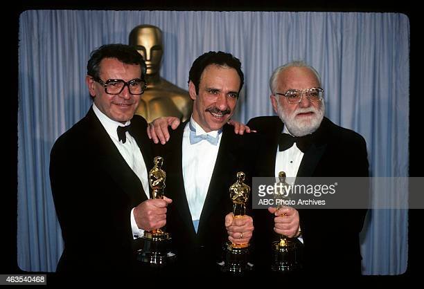 March 25 1985 MILOS FORMAN WINNER BEST DIRECTOR F MURRAY ABRAHAM WINNER BEST ACTOR AND PRODUCER SAUL ZAENTZ WINNER BEST PICTURE ALL FOR 'AMADEUS'