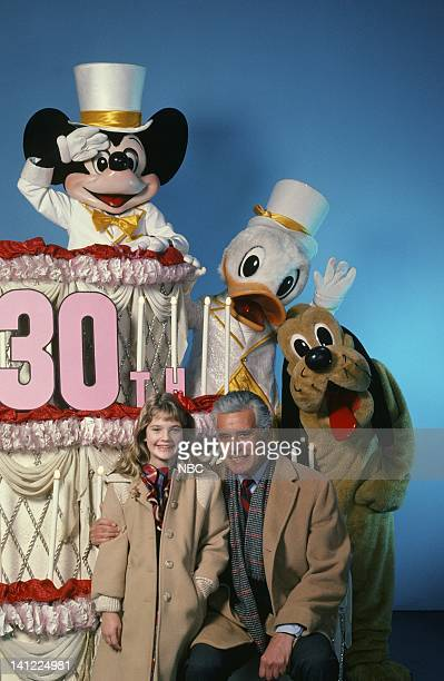 S 30TH ANNIVERSARY CELEBRATION Aired Pictured Actress Drew Barrymore actor John Forsythe Mickey Mouse Donald Duck Goofy Photo by Herb Ball/NBCU Photo...