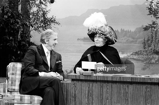 Cohost Ed McMahon with host Johnny Carson as Carnac the Magnificent on April 4 1979