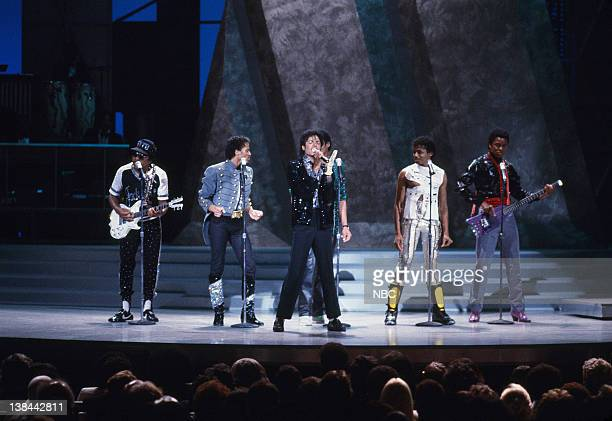 MOTOWN 25 YESTERDAY TODAY FOREVER Aired Pictured The Jacksons Tito Jackson Marlon Jackson Michael Jackson Randy Jackson Jermaine Jackson
