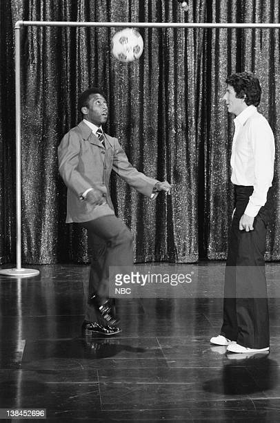 Soccer star Pele' during a segment with guest host Bert Convy on July 2 1975