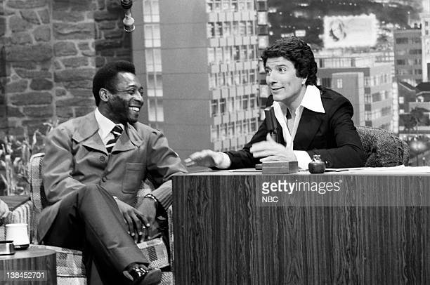 Soccer star Pele' during an interview with guest host Bert Convy on July 2 1975