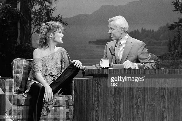 Actress Helen Shaver during an interview with host Johnny Carson on August 2 1979