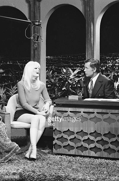 Actress Carol Wayne during an interview with hosy Johnny Carson on November 13 1970