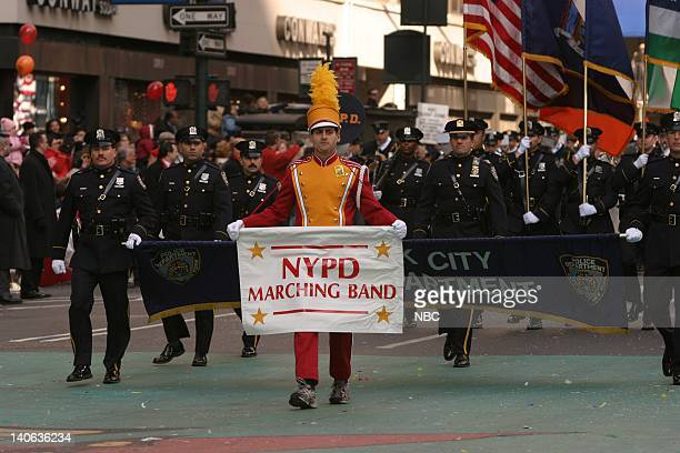 S 77TH THANKSGIVING DAY PARADE Aired Pictured The NYPD Marching Band at the 2003 Macy's Thanksgiving Day Parade Photo by NBCU Photo Bank
