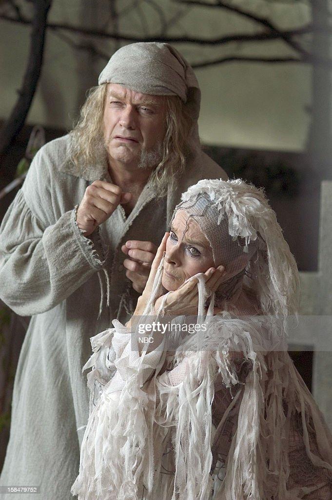 Kelsey Grammer as Ebenezer Scrooge, Geraldine Chaplin as Ghost of ...
