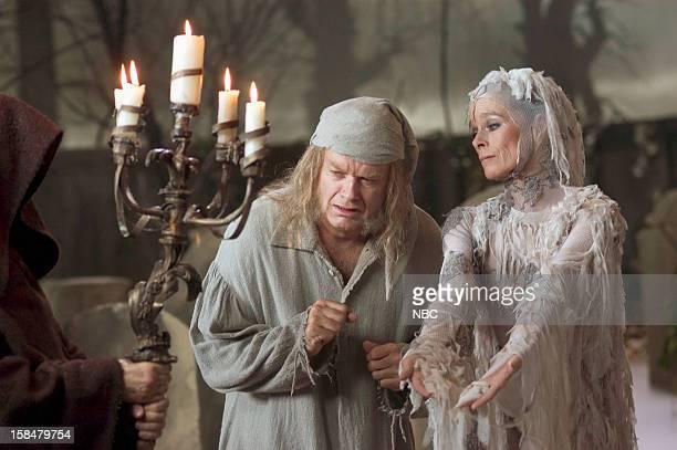 Kelsey Grammer as Ebenezer Scrooge Geraldine Chaplin as Ghost of Christmas Future/blind beggarwoman