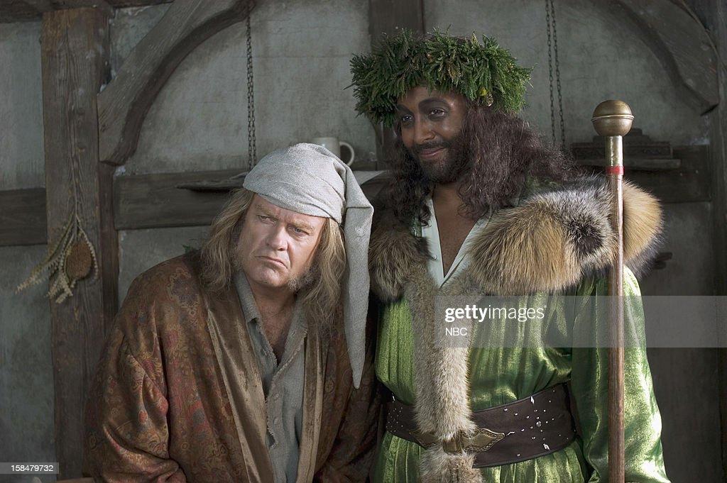Kelsey Grammer as Ebenezer Scrooge, Jesse L. Martin as Ghost of ...