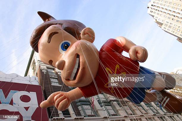 S 76TH THANKSGIVING DAY PARADE Aired Pictured Jimmy Neutron balloon at the 2002 Macy's Thanksgiving Day Parade on November 28 2002 NBC Photo Eric...