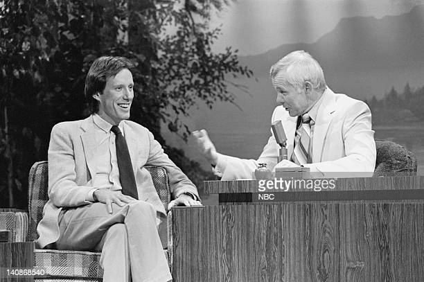 Actor James Woods with Host Johnny Carson on November 30 1979 Photo by Ron Tom/NBCU Photo Bank